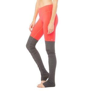 ALO Yoga Godness Leggings Two tone orange and grey